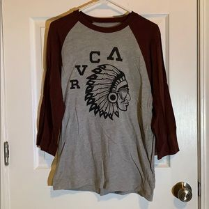 RVCA 3/4 sleeve graphic t-shirt